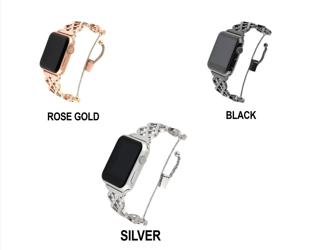 Watches Apple Watch Series 5 4 3 2 Band, Stainless Steel Strap Wrist Bracelet cuff 38mm, 40mm, 42mm, 44mm