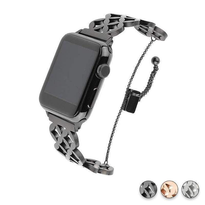 Watches Black / 38mm / 40mm Apple Watch Series 5 4 3 2 Band, Stainless Steel Strap Wrist Bracelet cuff 38mm, 40mm, 42mm, 44mm