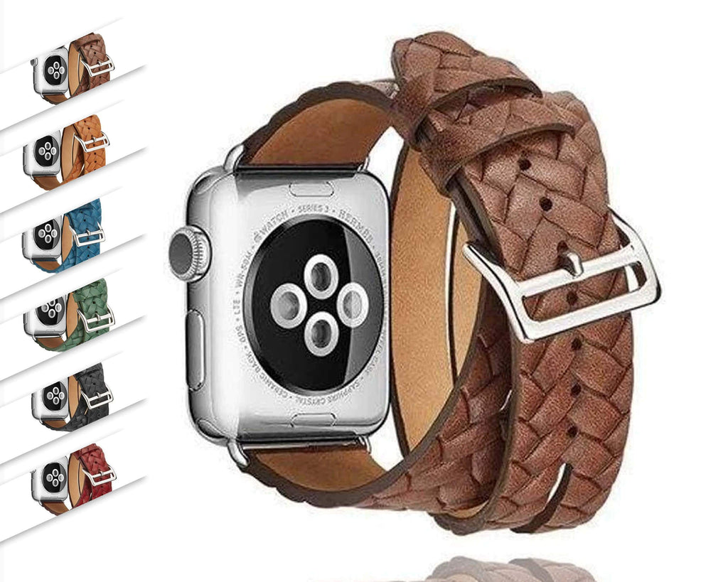 Watches Leather Loop For Apple watch band 44mm/ 40mm/ 42mm/ 38mm iWatch strap Series 1 2 3 4 wrist bands Bracelet belt Double Tour watchband, USA Fast Shipping
