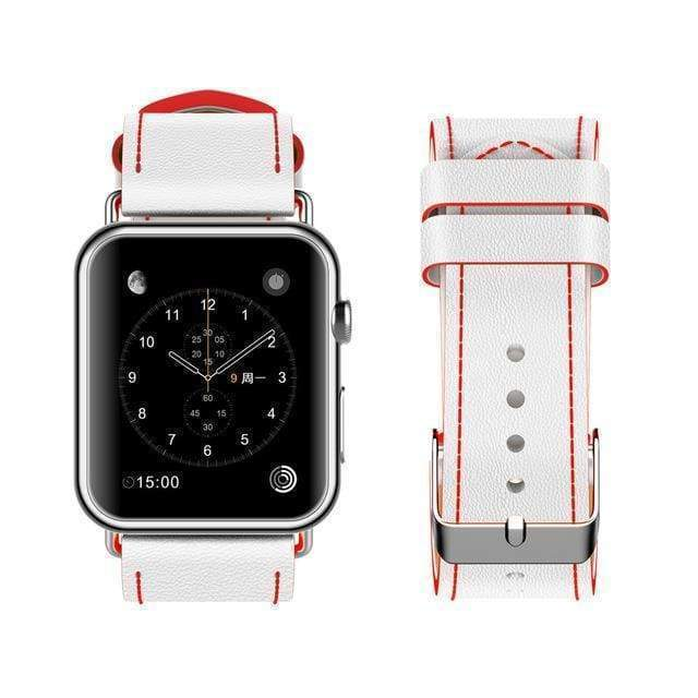 New Fashion Watchband for Apple Watch Band 44mm/ 40mm/ 42mm/ 38mm Watchband Genuine Leather Belt for Iwatch Series 1 2 3 4 Strap Leather - www.Nuroco.com