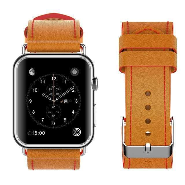 Watches New Fashion Watchband for Apple Watch Band 44mm/ 40mm/ 42mm/ 38mm Watchband Genuine Leather Belt for Iwatch Series 1 2 3 4 Strap Leather