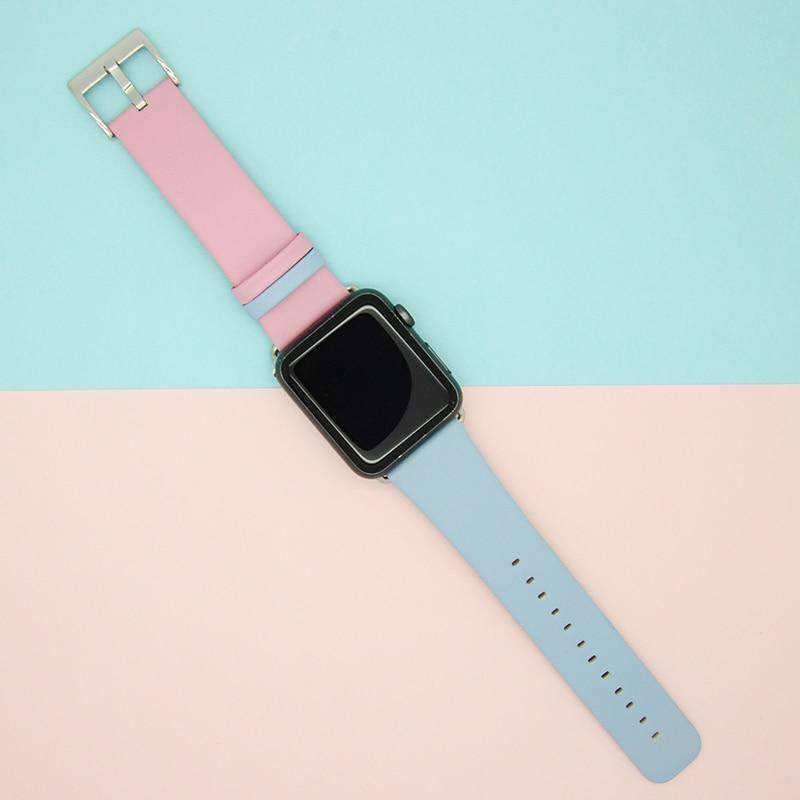 Watches Pink / 42mm/44mm Apple Watch Band dual mix color straps, 44mm/ 40mm/ 42mm/ 38mm Series 1 2 3 4