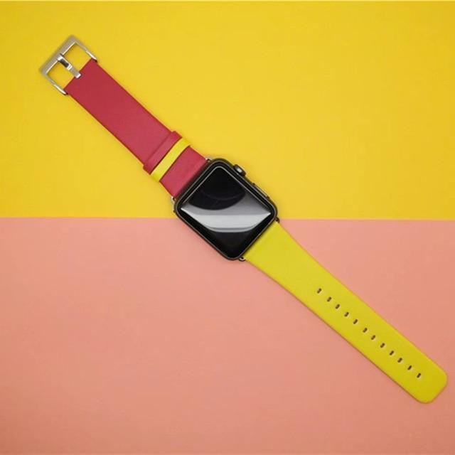 Watches Red / 38mm/40mm Apple Watch Band dual mix color straps, 44mm/ 40mm/ 42mm/ 38mm Series 1 2 3 4