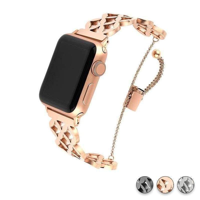 Watches Rose Gold / 38mm / 40mm Apple Watch Series 5 4 3 2 Band, Stainless Steel Strap Wrist Bracelet cuff 38mm, 40mm, 42mm, 44mm