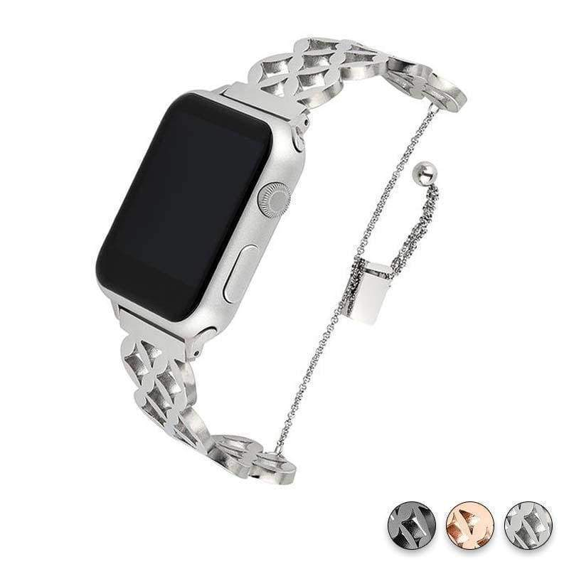Watches Silver / 38mm / 40mm Apple Watch Series 5 4 3 2 Band, Stainless Steel Strap Wrist Bracelet cuff 38mm, 40mm, 42mm, 44mm