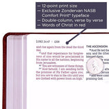 NASB Giant-Print Thinline Bible, Red Letter Edition--soft leather-look, brown