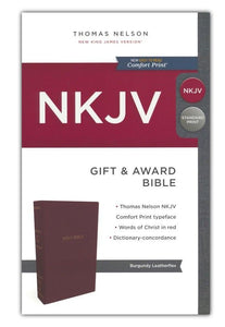 NKJV Gift and Award Bible Burgundy