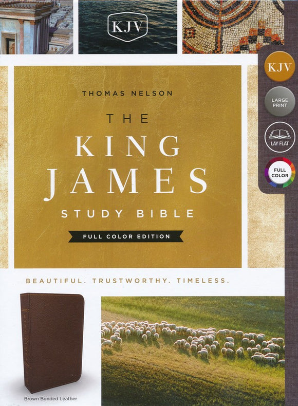 KJV Study Bible, Full-Color Edition, Bonded Leather, Brown