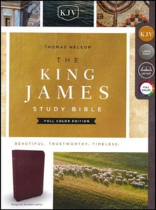 KJV Study Bible Study Full Color Edition, Bonded Leather, Burgundy
