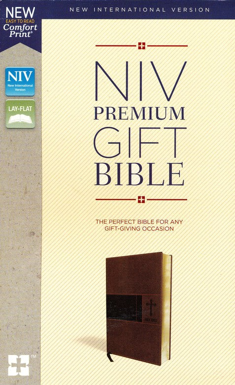NIV, Premium Gift Bible, Leathersoft, Brown, Comfort Print