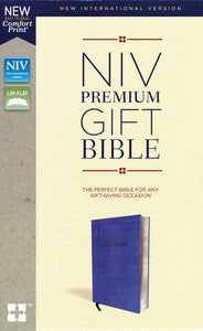 NIV, Premium Gift Bible, Leathersoft, Navy, Indexed, Comfort Print
