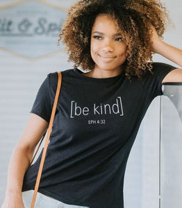 Be Kind Shirt Black Heather