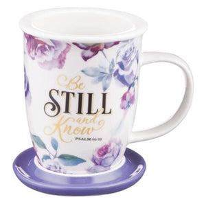 Be Still and Know Mug with Lid with Gift Box