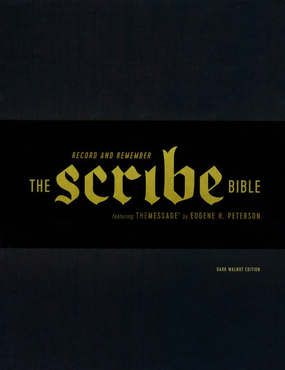 The Scribe Bible: Featuring The Message by Eugene H. Peterson, Dark Walnut