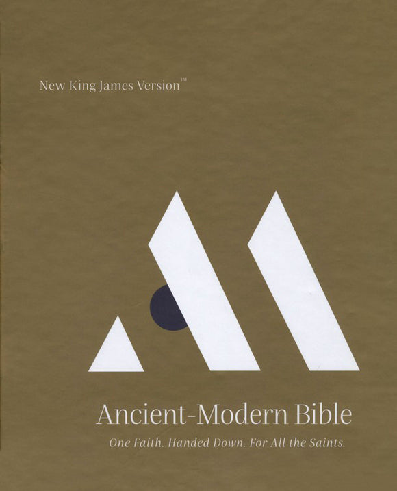 NKJV Comfort Print Ancient-Modern Bible, Cloth over Board, Gray