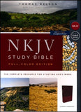 NKJV Comfort Print Full Color Edition Cranberry Leathersoft