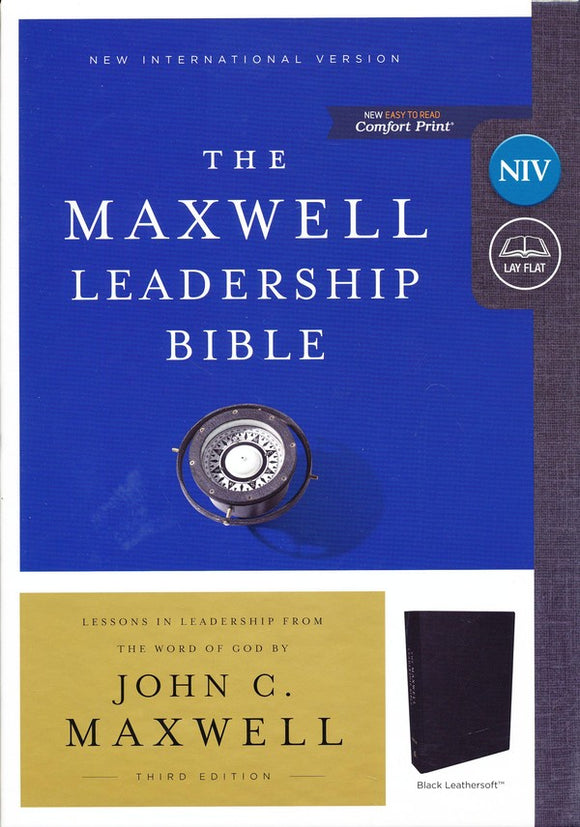 NIV, Maxwell Leadership Bible, 3rd Edition, Leathersoft, Black, Comfort Print - John C. Maxwell
