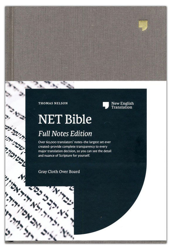 NET Bible, Full-notes Edition, Cloth over Board, Gray, Comfort Print: Holy Bible Hardcover