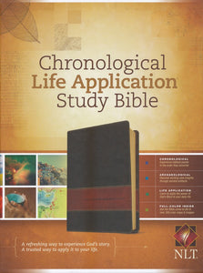 NLT Chronological Life Application Study Bible, TuTone (LeatherLike, Brown/Tan) Imitation Leather