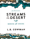 Streams in the Desert: Morning & Evening - L.B. Cowman Hardcover