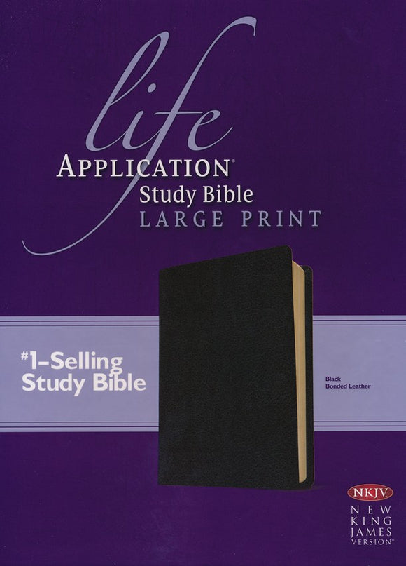 NKJV Life Application Study Bible 2nd Edition, Large Print Black Bonded Leather