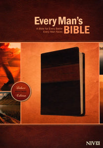 Every Man's Bible NIV, Deluxe Heritage Edition, TuTone (LeatherLike, Brown/Tan) – Study Bible for Men with Study Notes, Book Introductions, and 44 Charts Imitation Leather