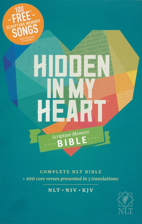 NLT Hidden in My Heart Scripture Memory Bible, Softcover