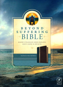 NLT Beyond Suffering Bible, TuTone Teal/Brown/Rose Gold Leatherlike