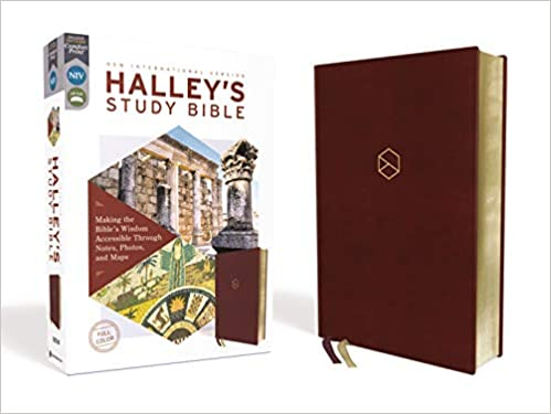 NIV, Halley's Study Bible Burgundy, Red Letter Edition,