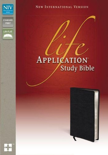 NIV, Life Application Study Bible, Second Edition, Genuine Leather, Black, Red Letter Edition