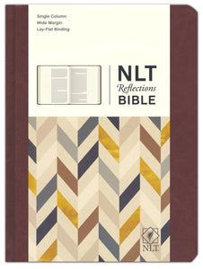 NLT Reflections: The Bible for Journaling, Brown Leatherlike