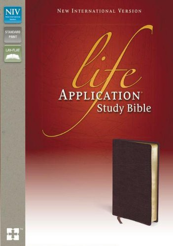 NIV, Life Application Study Bible, Second Edition, Bonded Leather, Burgundy