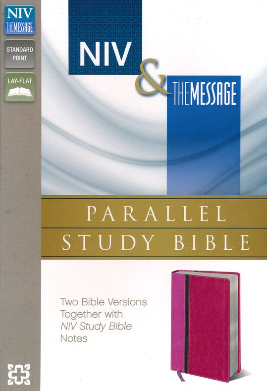 NIV & The Message Parallel Study Bible, Personal Size, Orchid/Raspberry