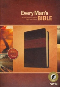 NIV Every Man's Bible, Deluxe Heritage Edition, TuTone, LeatherLike, Tan, With thumb index