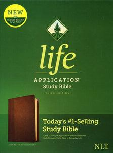 NLT Life Application Study Bible - Third Edition - Dark Brown & Brown LeatherLike
