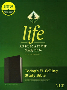 NLT Life Application Study Bible, Third Edition--soft leather-look, black/onyx