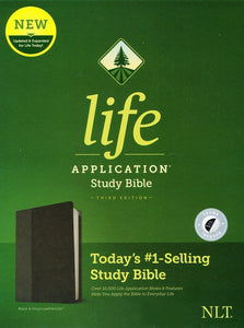 NLT Life Application Study Bible, Third Edition--soft leather-look, black/onyx (indexed)