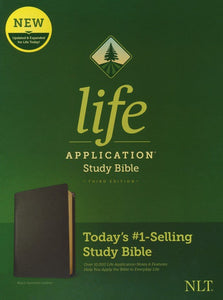 NLT Life Application Study Bible, Third Edition--genuine leather, black