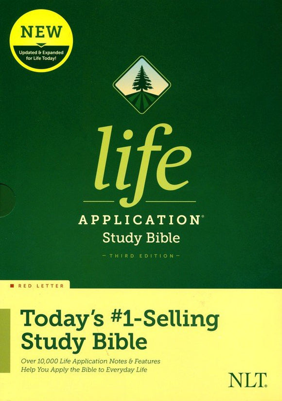 NLT Life Application Study Bible, Third Edition--hardcover, red letter
