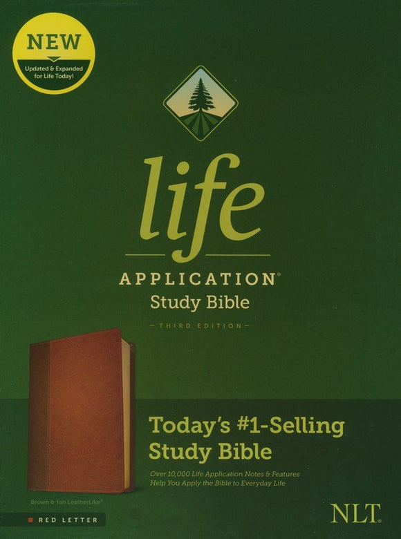 NLT Life Application Study Bible, Third Edition--soft leather-look, brown/tan (red letter)