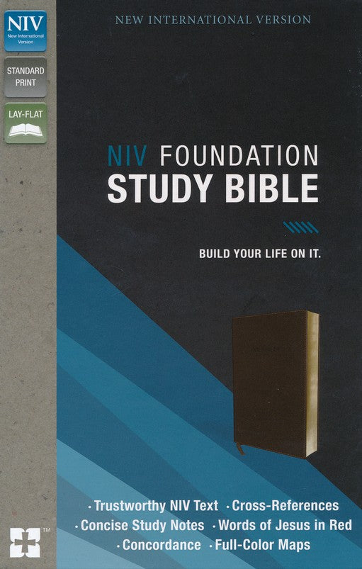 NIV Foundation Study Bible, Soft-Leather-Look, Earth Brown