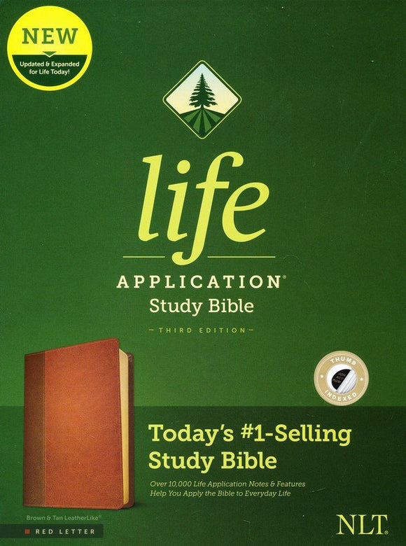 NLT Life Application Study Bible, Third Edition--soft leather-look, brown/tan (indexed) (red letter)