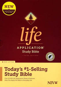 NIV Life Application Study Bible, Third Edition--hardcover, indexed (red letter)