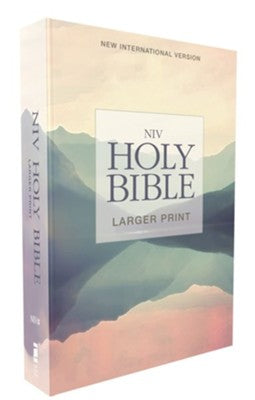 NIV Larger Print Holy Bible--softcover, lakeside