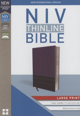 NIV Thinline Bible Large Print Purple, Imitation Leather
