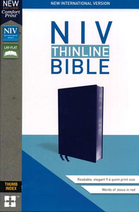 NIV Comfort Print Thinline Reference Bible, Imitation Leather, Gray