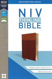 NIV Thinline Bible Tan, Imitation Leather