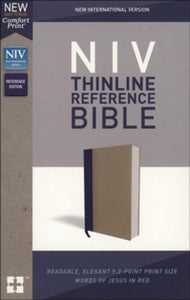 NIV Comfort Print Thinline Reference Bible, Cloth over Board, Blue and Tan
