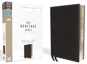 NIV Comfort Print Heritage Bible, Imitation Leather, Black