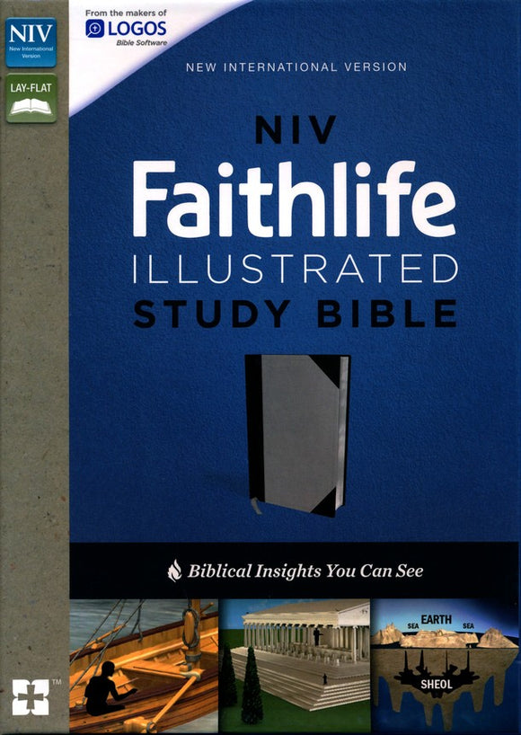 NIV, Faithlife Illustrated Study Bible, Imitation Leather, Gray/Black